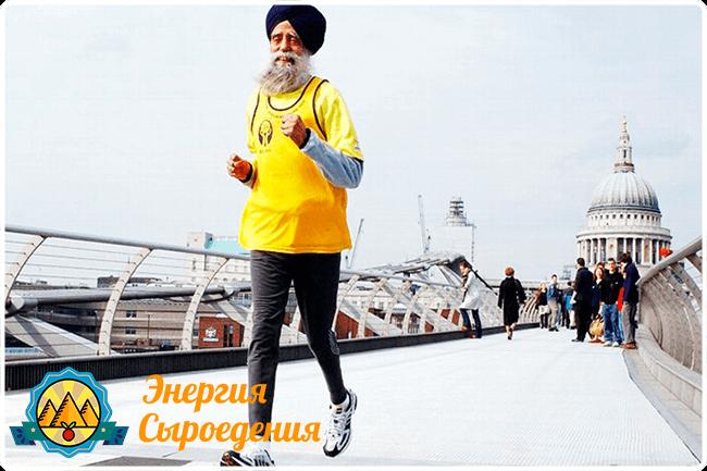 Фаудж Сингх марафонец