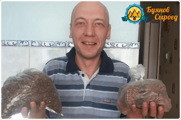 буянов олег с кедровыми орехами